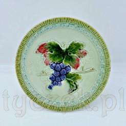 Dekoracyjny talerzyk bogato zdobiony kolorowy