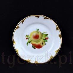 Uroczy talerzyk deserowy z wałbrzyskiej białej porcelany