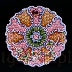 Bajecznie kolorowy talerzyk ozdobny z ceramiki zabytkowej