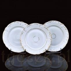 Przykład kompletu trzech zabytkowych talerzy wytwórni Rosenthal