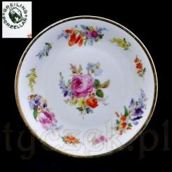 Porcelanowy talerzyk Greiling Porzellan z różą
