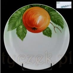 Porcelana Bavaria - malowane jabłko na tle liści
