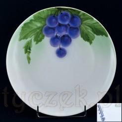Dekoracyjne malowane winogron na talerzu Bavaria