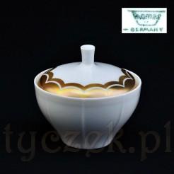 Modernistyczna cukiernica porcelanowa