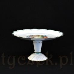 Porcelanowa owocarka na nodze