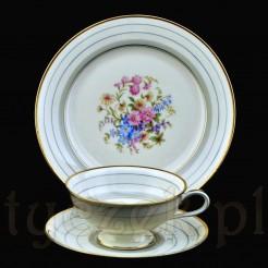 Zestaw śniadaniowy ze szlachetnej porcelany markowej
