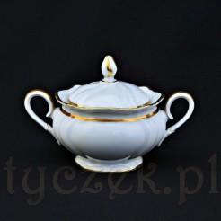 Dostojna porcelanowa cukiernica z kolekcji Viktoria