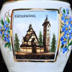"""Ręcznie malowany obrazek """"Kirche Wang"""" na antyku z XIX wieku"""