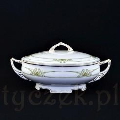 Przepiękna porcelanowa waza pomocnicza