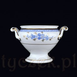 Nieduża waza wykonana została ze szlachetnej śląskiej porcelany w kolorze białym
