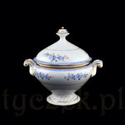 Piękna waza wykonana została ze śląskiej porcelany prawdopodobnie Zofiówka