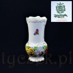 Porcelanowy wazon dekorowany motywem Bratków