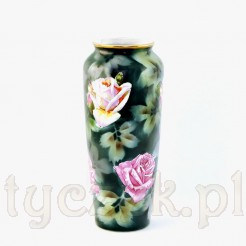 Przepiękny porcelanowy wazon wykonany na Śląku