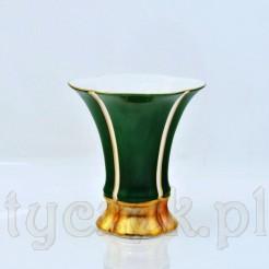 Porcelanowy wazon w kolorze szmaragdowym