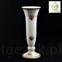 Ekskluzywny wazon śląski sygnowany Tillowitz ze złotem trawionym