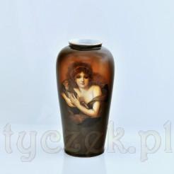 Oryginalny wazon wykonany z bawarskiej porcelany w brązowej tonacji