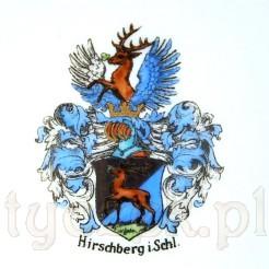 Malowany herb miasta Hirschberg in Schlesien