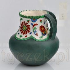 Unikatowy wazon z ceramiki marki Krause Schweidnitz