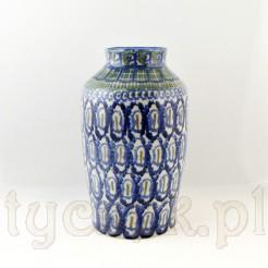 Uroczy wazon na kwiaty z XIX wiecznej ceramiki artystycznej
