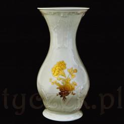 Śliczny wazon kremowy ze złotymi kwiatami z serii Classic Rose