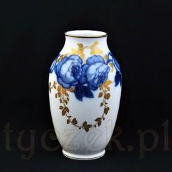 luksusowy wazon w kobaltowe róże