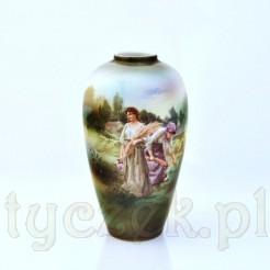 Ekskluzywny wazon ze scenką panien w polu