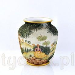 Ręcznie malowany wazon o pękatej formie w typie Schumann Arzberg