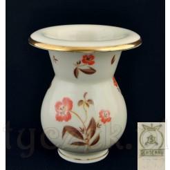 wazon z kwiatem i złoceniami - porcelana ECRU