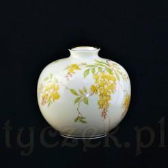 Niecodzienny wazon w formie kuli z porcelany Sorau