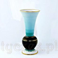 Duży malowniczy wazon żarskiej wytwórni