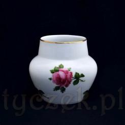 Zabytkowy wazon bawarski z motywem kwitnącej róży