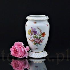 Wyjątkowo ciekawy wazon porcelanowy w kwiaty