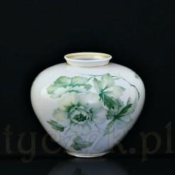 Przepiękny porcelanowy wazon wykonany w Turyngii