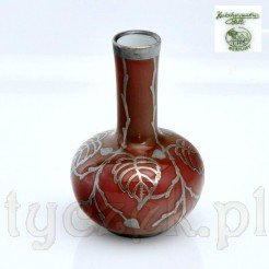 Cenna miniaturka z porcelany okuwanej srebrem