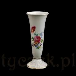 Ecru wazon z motywem łączki na porcelanie Alka Bavaria