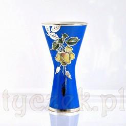 Luksusowy wazon z porcelany markowej selb Bavaria ze srebrem