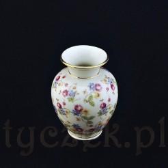 Niewielki wazonik ze znakomitej bawarskiej porcelany