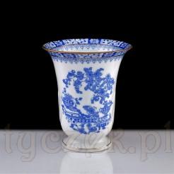 Wazonik do ciętych kwiatów z porcelany w biało niebieskim wzorze China Blau