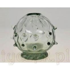 Artystyczny wazon sze szkła dmuchanego i ręcznie formowanego
