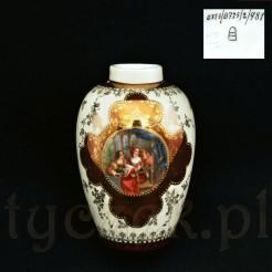 Luksusowy wazon porcelanowy z Czech