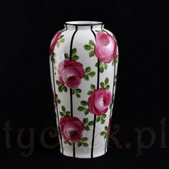 Bawarski wazon ręcznie malowany antyk porcelanowy