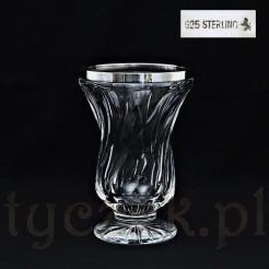 Kryształowy wazon ze szlifowanym wzorem