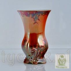 Modernistyczny wazon ze ślaskiej porcelany marki Tillowitz - dziś Tułowice