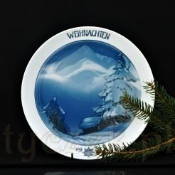 Nastrojowy talerz świąteczny wykonany został ze szlachetnej porcelany Rosenthal