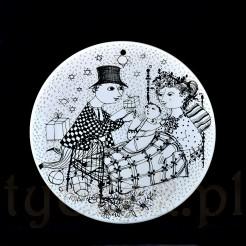 Grudzień - dezember pod tytułem MIRAKEL wg projektu Wiinblad na porcelanie markowej Rosenthal