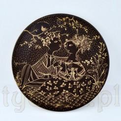 Majowy talerz z serii brązowo złotej według Wiinblad