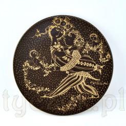 Oryginalny złoto-brązowy talerzyk Rosenthal Wiinblad MARZEC