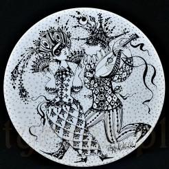 Maszkarada czyli bal karnawałowy na talerzyku Februar- Luty marki Rosenthal