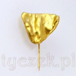Porcelanowy złocony samorodek