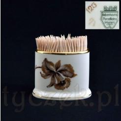 Porcelanowy pojemnik na wykałaczki z porcelany KPM